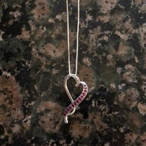 Kay Jewelers Ruby Heart Shaped Necklace